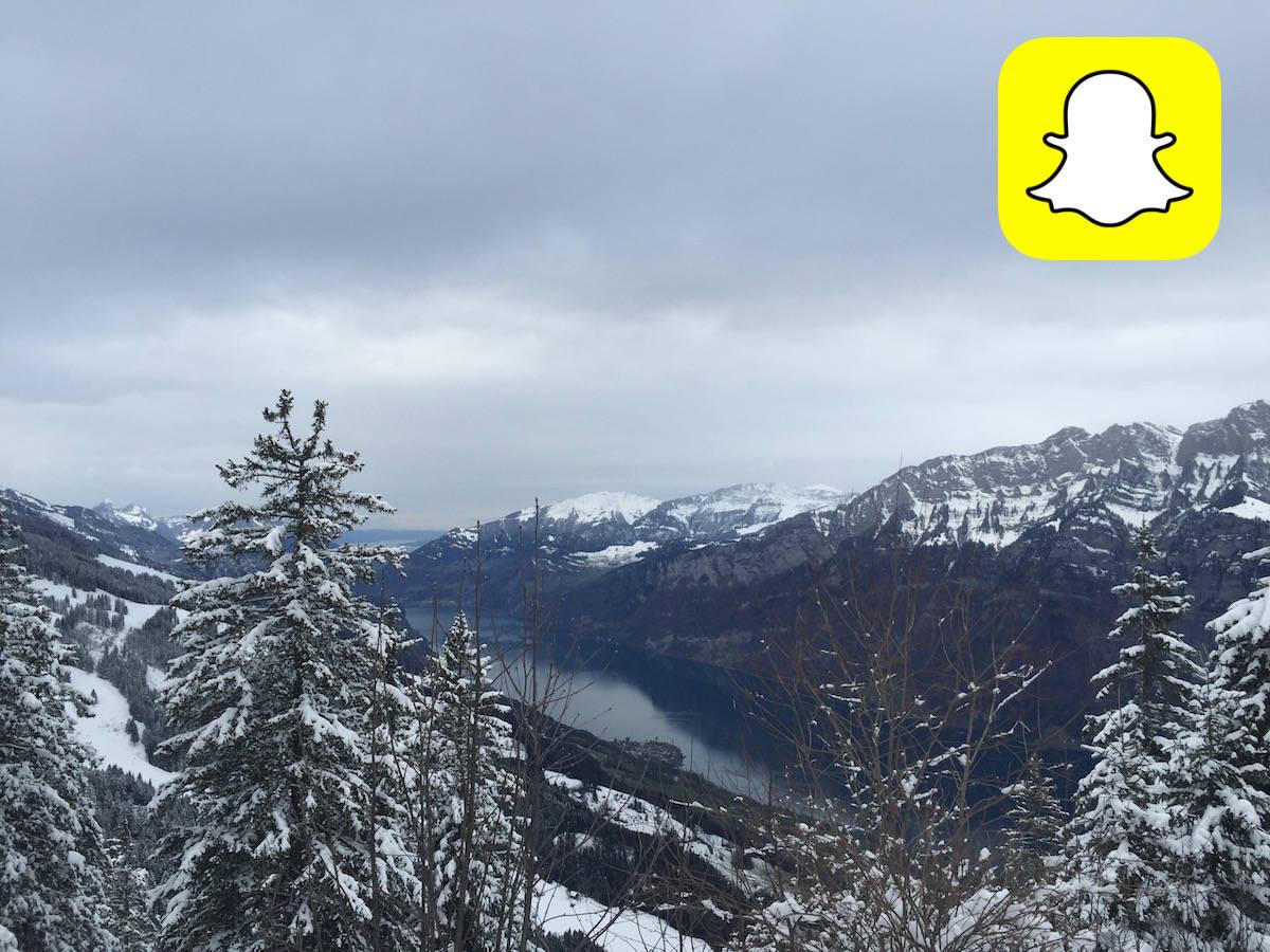 Ein Tag am Flumserberg mit Snapchat